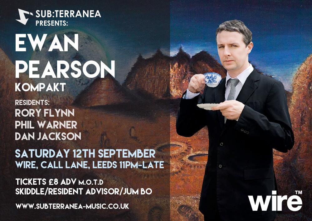Ewan Pearson Flyer
